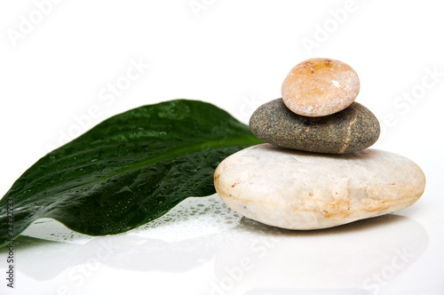 Stack of three rounded rocks