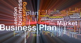 Business plan background concept glowing