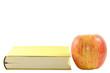Gelbes Buch mit Apfel