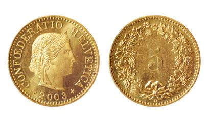 rare coin of switzerland