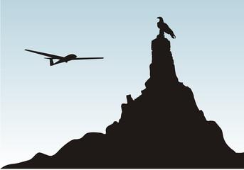 wasserkuppe rhön segelflugzeug fliegerdenkmal