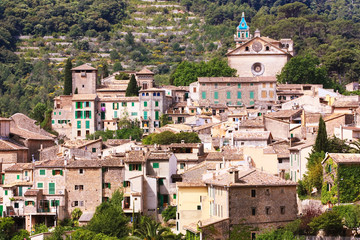 the village of Valldemossa in Mallorca