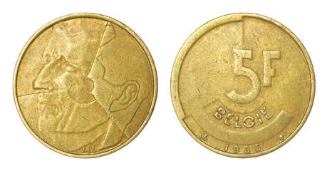 rare retro coin of belgium