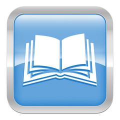 pictogramme livre série carré bleu