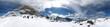 Panorama Landschaft im Winter der Dolomiten