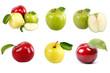 Insieme di mele fresche