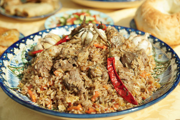 Pilaf, traditional dish of the Middle East