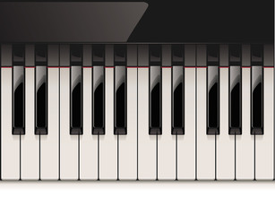 Vector detailed piano keyboard