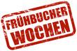 Grunge Stempel rot FRÜHBUCHER WOCHEN
