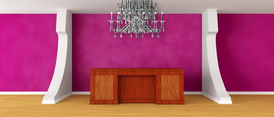 Modern purple reception
