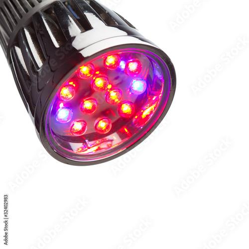 Leinwandbild Motiv LED lamp for plant growing