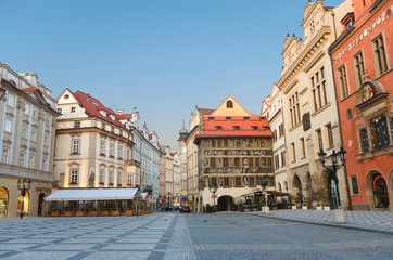 Sunrise at Staromestska's Square (Old Town Square), Prague