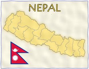 Nepal political division national emblem flag map