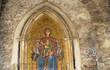 religious mosaic in street in Taormina Sicily Italy