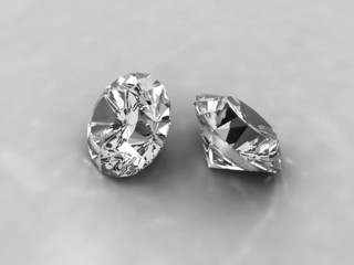 Two cut diamonds