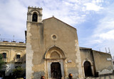 Parish church in Taormina Sicily Italy poster