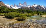 Naturlandschaft mit Fitz Roy in Argentinien, Südamerika.