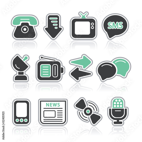 communications contour icons
