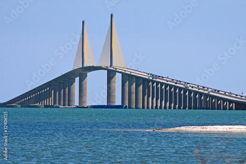 Deurstickers Bruggen Sunshine Skyway Bridge,Tampa Bay,Florida