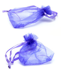 Purple Satin Drawstring Gift Bag