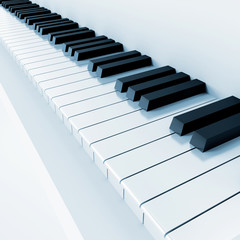 black and white keys of musical instrument