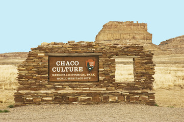 Chaco Culture sign