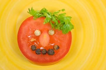 Tomatengesicht