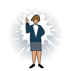 Business symbol-women with dynamic idea