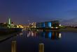 Marina Duisburg Innenhafen bei Nacht