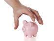 die Ersparnisse wegnehmen