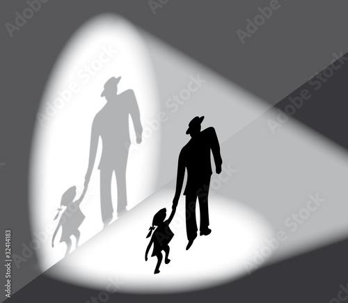 Staande foto Licht, schaduw Entführung