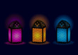 Beautiful Egyptian lamps - Vector Illustration