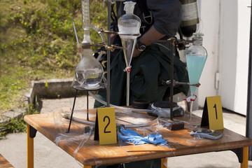 Illegal meth laboratory