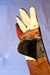 Mechanics gloves are a very active help of the blacksmith.