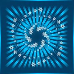 Snow Flake celebration background
