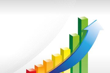 Diagram Aufstieg Pfeil Statistik Erfolg grau 1