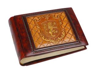 big brown vintage  leather book