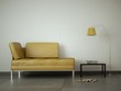 3d Rendering gelbes Sofa