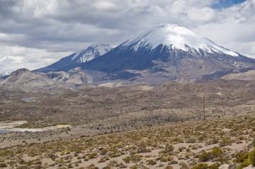 Volcanes de Parinacota y Pomerape, Chile
