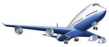 Fototapety Illustration of a large passenger plane