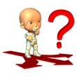 Baby mit Fragezeichen