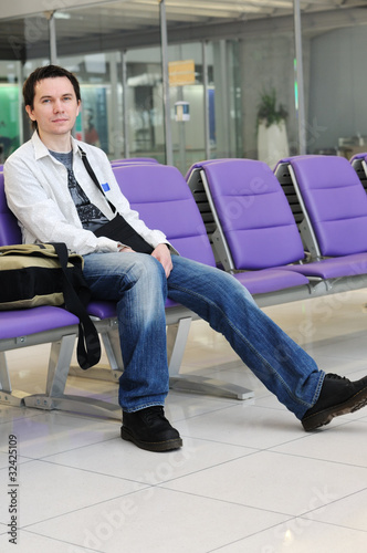 Man in the airport.