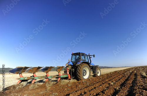 tilling the field