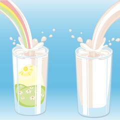 milk vektor.