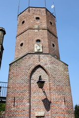 Tower in the courtyard of a  Castle in the Netherlands