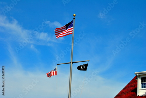 Flags in the Blue Sky
