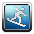 "Glossy Square Icon ""Snowboarding"""
