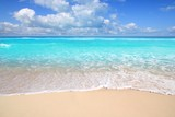 Fototapety Caribbean turquoise beach perfect sea sunny day