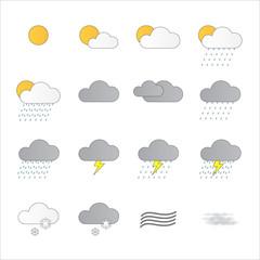 meteorologia fundo branco