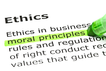 'Moral principles' highlighted in green